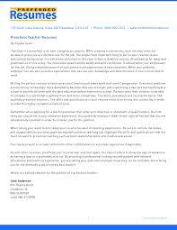 Cover Letter Preschool Teacher Resume Preschool Teacher Resume