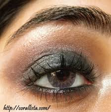 shimmery smokey black and plum eye makeup step by step tutorial