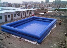 Double Layers PVC tarpaulin Inflatable Swimming Pools Above Ground