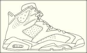 basketball jordan shoe coloring book