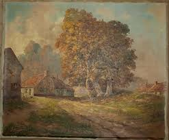 image is loading antique oil painting belgian countryside listed artist g