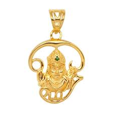 lord muruga with tamil om 22kt gold