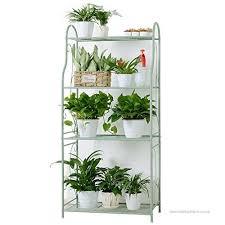 4 tiers flower stand metal plant stands indoor outdoor garden balcony
