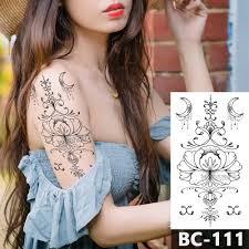1 лист грудь тело татуировки временные водонепроницаемые украшения черный