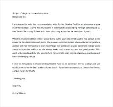 Letter Of Recommendation Student Teacher Reference Letter Sample Letter Of Recommendation For