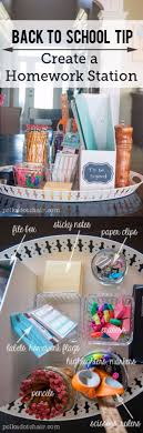 diy school supplies create a homework station easy crafts and do it yourself ideas