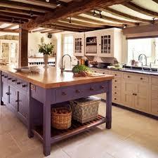 Luxury Antique Kitchen Ideas Ceramic Tile Floor Purple Painted