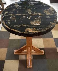 Wine Barrel Kitchen Table Rustic Kitchen Table Wine Barrel Reclaimed Wood Top Raised Bar