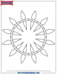 Small Picture Easy Geometric Coloring Pages Coloring page