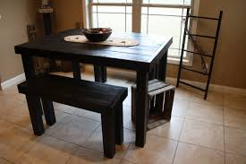 dining room pub style sets: and vintage pub style dining sets with black painted wood dining table