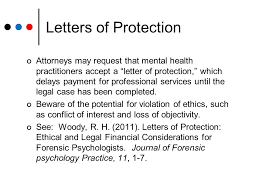 Letters of Protection