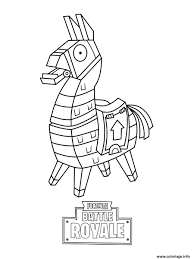 Fortnite Battle Royale Coloring Page Lama Tatoo Intended For