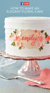 How To Design Cake Watch And Learn How To Make An Elegant Floral Birthday Cake