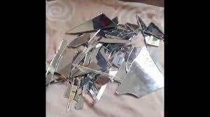 Broken Mirror Wall Art Diy Broken Mirror Wall Art Youtube