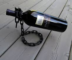 Wine Bottle Storage Angle Floating Chain Wine Bottle Holder 5 Steps With Pictures