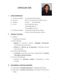 Modelo De Curriculum Vitae 2014 Peru Modelo De Curriculum Vitae