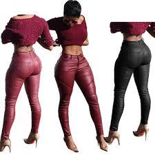 pu leggings 2017 leather skinny pants autumn gothic push up leggings women black slim women leggings new fashion legins womenwomen s clothing