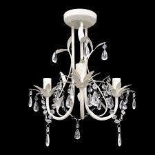 Kristall Weiß Kronleuchter Pendelleuchte Lampe Leuchte