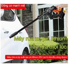 Máy xịt rửa xe không dây, dùng pin lithium GUANXIN - GX500- Cao Cấp
