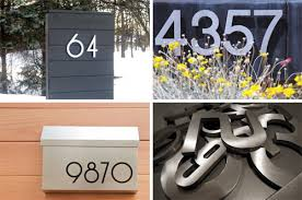 modern mailbox numbers. Contemporary Numbers Modern House Numbers Giveaway For Mailbox R