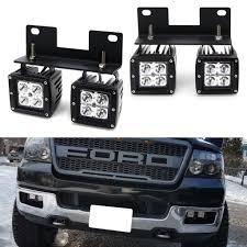 05 F150 Fog Light Bulb Dual Led Pod Light Fog Lamp Kit For 2004 06 Ford F150 06 Lincoln Mark Lt 4 20w Cree Led Cubes Foglight Location Mounting Brackets Wiring