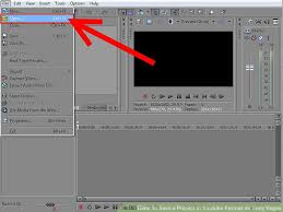 sony vegas. image titled save a project in youtube format on sony vegas step 1