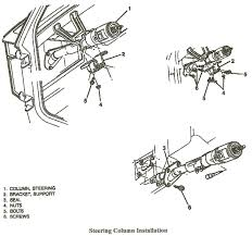 Remove 1994 tilt steering column.