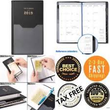 2019 Pocket Pal Calendar Planner Diary Personal Organizer Pen Hold
