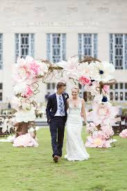 Paper Flower Archway Oversized Paper Flower Wedding Arch Ely Fair Photography