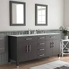 72 Inch Bathroom Vanity Double Sink Interesting 48 White Double Sink Bathroom Vanity Isabella Amazon