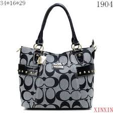 Discount Coach Stud In Signature Medium Grey Totes BXX Clearance