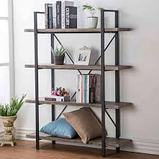 Vintage and industrial furniture Reclaimed Image Unavailable Custommadecom Amazoncom Hsh Furniture 4shelf Vintage Industrial Bookshelf