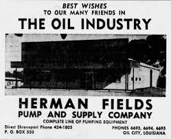 Notable People, Lost Tales, and Forgotten Facts of Oil City, Louisiana:  November 2017