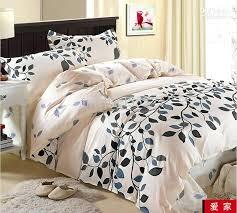 superb queen size comforter cover q25899 cream blue gray black leaf flower cotton queen size duvet