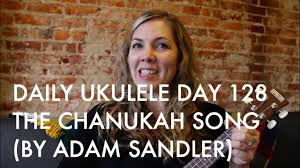 the chanukah song ukulele cover adam sandler daily ukulele day 128