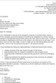 Cover Letter For Library Clerk Job Adriangatton Com