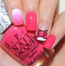 Nail Art Tutorial: Hello Kitty Bow and Gradient - NAIL IT ...