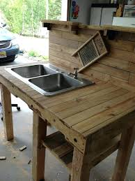 outdoor sink table pallet sink all purpose outdoor table sink and faucet