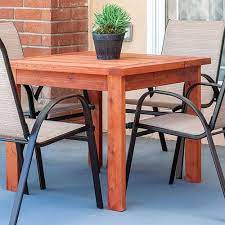 simple diy outdoor dining table