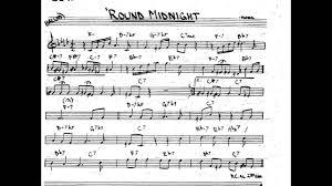 Round Midnight Chart Round Midnight Play Along Backing Track Bb Key Score Trumpet Tenor Sax Clarinet