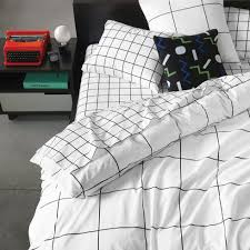 black and white bed covers.  White Grid Black Duvet Cover SHARE YOUR STYLE OR SHOP THE LOOK UNISONHOME  Upload Throughout And White Bed Covers H