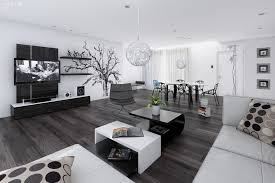 black and white home decor ideas. Beautiful Home Black And White Living Dining Room Throughout And White Home Decor Ideas W