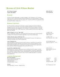 Real Estate Agent Resume Templates Realtor Resume Sample Real Estate