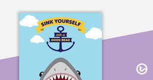 Book Report Poster Template Shark Themed Book Report Template And Poster Teaching