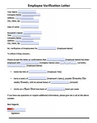 Letter Employment Certification Letter Template