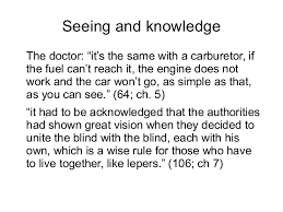 lecture blindness in an essay on blindness 5