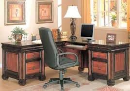 l shaped desk for two. Plain For Dark Two Tone L Shaped Home Office Desk With For E