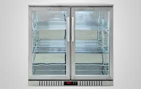 sliding door bar fridge 2 door