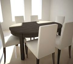 extensible table and chairs ikea bjursta henricksdal royalty free 3d model