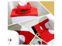 creative santa toilet seat cover toilet sets toilet clothes decorations bath mat holder closestool lid